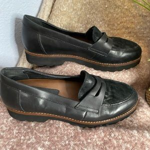 Earthies Braga Loafers Black Leather penny loafers